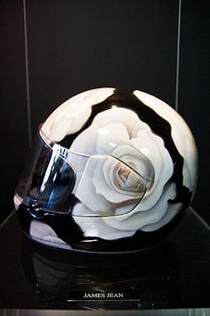 james jean helmet…I can ride my expensive motorcycles with this. james jean helmet…I can ride my expensive motorcycles with this. Custom Motorcycle Helmets, Custom Helmets, Motorcycle Gear, Womens Motorcycle Helmets, Biker Helmets, White Motorcycle, Motorcycle Girls, Motorcycle Style, Biker Chick