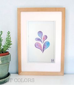 Watercolor painting Abstract wall art Housewarming gift