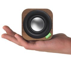 """Vers' 1Q Another cool designed bluetooth speaker now comes from Vers'. Wrapped in a 3"""" hand-crafted wood cube, 1Q is a powerful little bluetooth sound system that produces warm, surprisingly natural..."""