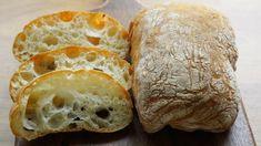 Chleba z obchodu už nekupujem, toto je jednotka: Úžasný taliansky chlebík bez miesenia, vnútri je samá bublinka! Ciabatta, Food Art, Ricotta, Recipies, Food And Drink, Bread, Nova, Kitchen, Pies