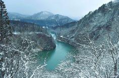 Come to here to meet the beautiful winter of Japan in Fukushima!    #japankuru #beautifulview #photography #bestshot #tadamitrain #train #tadamitravel #japantravel #beautifuljapan #japanwinter