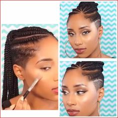 Try easy Black Hairstyles with Shaved Sides and Back 95974 My Next Hairstyle Cornrows with Shaved Sides and Back ideas using step-by-step hair tutorials. Easy Black Hairstyles, Mohawk Hairstyles For Women, Shaved Side Hairstyles, Braided Hairstyles, Dreadlock Hairstyles, Hairdos, Half Shaved Head, Braids With Shaved Sides, Dreads