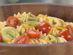 Get Garth's Pasta Salad Recipe from Food Network (Add 1/2 c mayo and 1/2 cup milk to make a dressing)