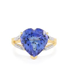 A beautiful Ring from the Lorique collection, made of 18k Gold featuring 6.25cts of charming AAA Clarity Tanzanite with dazzling Diamonds.