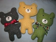 Crafts From Old Sweaters | ... bears made from old wool sweaters that have ... | Craft Night I