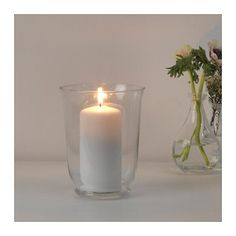 Ikea pomp vase or lantern can be used as both Unique Candle Holders, Unique Candles, Glass Candle Holders, Blue Candles, Candle Lanterns, Unity Candle, Glitter Room, Ikea Wedding, Sweet Home Collection
