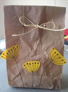Easy way to gift cookies or treats! Definitely Pinterest-inspired.