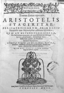 Meteorology (Aristotle) - Wikipedia