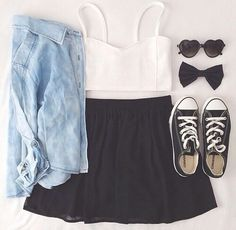 So cute skater girl outfit