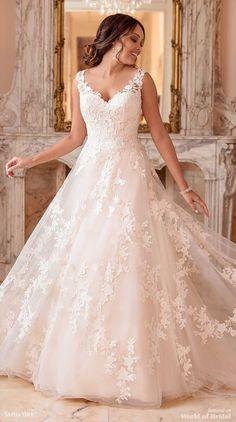 Stella York Fall 2018 A-line wedding dress
