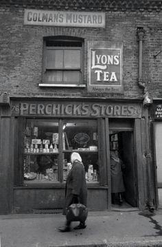 Stores, East End of London. We love shops and shopping. That's it - , /shoppedinternational and /shoppedPerchick's Stores, East End of London. We love shops and shopping. That's it - , /shoppedinternational and /shopped Victorian London, Vintage London, Vintage Pictures, Old Pictures, Old Photos, 1920s Photos, London History, British History, Asian History