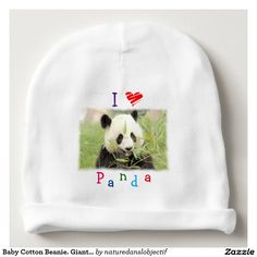 Baby Cotton Beanie. Giant Panda Baby Beanie