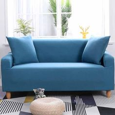 Erickson Calm Blue Sofa Cover – JoyCovers-Professionally provide all kinds of furniture covers such as sofa and chair covers with various colors and patterns Furniture Covers, Sofa Furniture, Sofa Chair, Furniture Ideas, Home And Living, Living Room, Old Sofa, L Shaped Sofa, Couch Covers