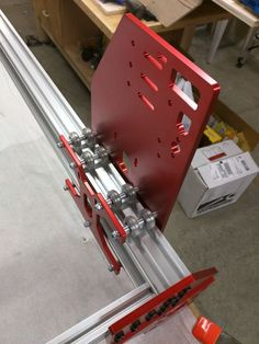 RoverCNC OX - OX Plates CNC Tall Gantry, Y-Brace Supports and Z-Plates, 11-hole - RED - SNB Solutions