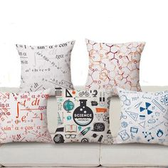 Math Chemistry Science Square Cushion Cover
