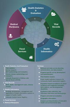 Center for Health and Environmental Data. Colorado Department of Public Health and Environment. Health Infographics, Medical Marijuana, Public Health, Division, Colorado, Environment, Aspen Colorado, Skiing Colorado