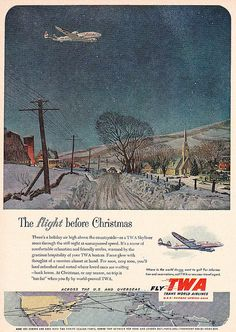 The Flight Before Christmas - TWA Ad 1952