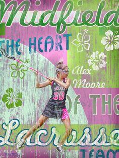 Alex Moore  Midfield Lacrosse  www.mytownart.com