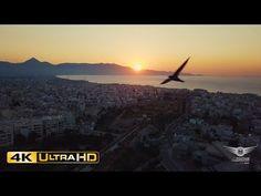 Sunset over Heraklion | Ηλιοβασίλεμα πάνω απ'το Ηράκλειο – AirFootage.gr [4K]