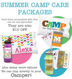 Surprise your kids at #CAMP with a cool care package of personalized gifts. Save $10 on each set. Offer ends soon.