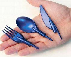 Pen Cap Utensils.  This has camp gear written all over it. Amazing idea!