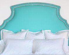 Flexible Metal Tackstrip-Ply Grip-Curve Ease-Professional | Etsy Azul Tiffany, Tiffany Blue Bedroom, Tiffany Inspired Bedroom, Tiffany White, Upholstery Tacks, Furniture Upholstery, Bedroom Furniture, Bedroom Decor, Master Bedroom