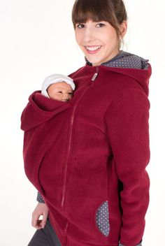 Beautiful, cosy baby-wearing jacket for you and your baby.  ADDITIONAL BABY SLING/ BABY CARRIER REQUIRED!  ♥ for carrying children of up to 1.5