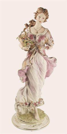 Sabadin Vittorio Porcelain Lady Figurine.