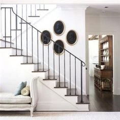 04 wrought iron stair railing for a modern meets rustic home - DigsDigs