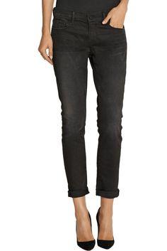 FRAME DENIM Le Garcon Mid Rise Slim Boyfriend Jeans Pants Elm Street Black $210 #FrameDenim #Boyfriend