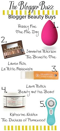 The Blogger Buzz: Favorite Beauty Buys.