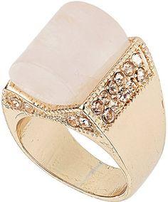 Premium Light Pink Semi Precious Ring at ShopStyle