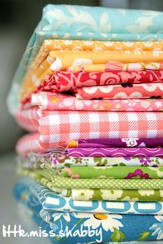 BEAUTIFUL fabric stack! From Little Miss Shabby.com