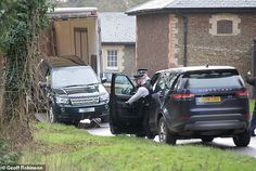 Armed Police arrive at Sandringham as a new Freelander - and exact replica of the one Phil...