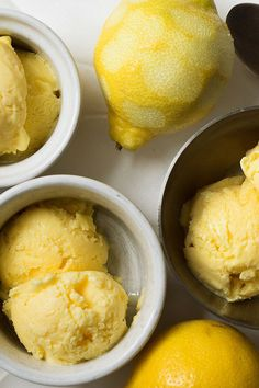 NYT Cooking: A proper Italian gelato di crema is sort of like vanilla ice cream, only in place of vanilla, you infuse the milk with a modest grating or shaving of lemon zest. This doesn't turn it into lemon ice cream, itself a cool dollop of heaven. Lemon Gelato Recipes, Lemon Desserts, Frozen Desserts, Ice Cream Recipes, Frozen Treats, Just Desserts, Delicious Desserts, Dessert Recipes, Nigella Lawson Recipes Ice Cream