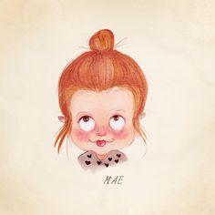 Custom Child Caricature Portrait. Personalized Little Face Portrait. Digital File Only. Parents. Children's wall art. Custom Art.