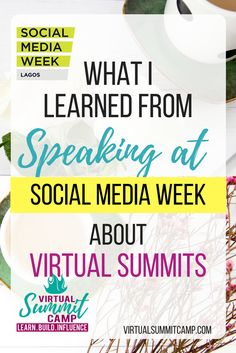 Virtual Summits can be confusing for some people, but when you talk about some of the benefits of participating in the virtual summit, then you will see their eyes light up.  Speaking at Social Media Week  was so much fun, I met so many people, and I could tell that I was making a difference - that's what makes life meaningful after all.  I learned so many things, and I want to...