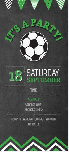 Free Soccer Themed Birthday Party Invitations | soccer ...