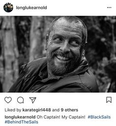 Image may contain: 1 person Black Sails Cast, Black Sails Starz, Luke Arnold, Captain Flint, Toby Stephens, Star Wars, Pirate Life, Lost In Space, Dream Guy