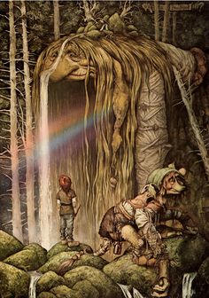 Brian-Froud-art - Old troll woman turning into part of the woods Brian Froud, Art And Illustration, Fantasy Artwork, Magical Creatures, Fantasy Creatures, Duende Real, Elfen Fantasy, Fantasy Magic, Nature Spirits