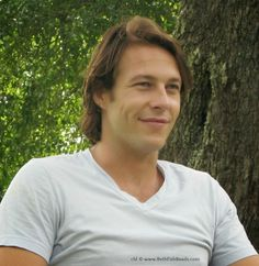 Luke Bracey on the set of The Best of Me movie, 2014 -- Bracey and all the stars were very easy to interview. I loved hearing their stories. www.BethFishReads.com #TheBestOfMe