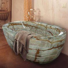 oynx bathroom Designs   Stone Bathtubs, Stone Toilets and Stone Fixtures
