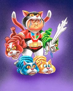 Garbage Pail Kids Style VOLTRON Art and More