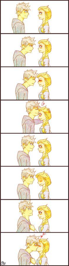 jelsa kiss!!!