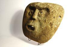 Attualmente nelle aste di #Catawiki: Mask made of fossilized bone - Atoni - West Timor