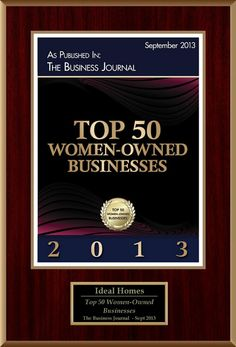 We've won an award! See our award plaque for being a Top Wisconsin Woman Owned Business!  #women #wisconsin #award