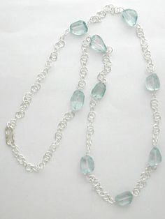 beaded necklace chain handmade - Google Search
