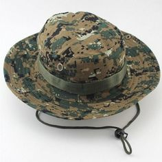833a08d39a5 Outdoor Sports Fishing Hat Camouflage Bucket Hat Fisherman Camo Jungle Bush Hats  Boonie UV Protection Wide Brim Sun Caps Ripstop