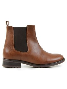 Vegan womens Chelsea boots in chestnut brown by Wills London