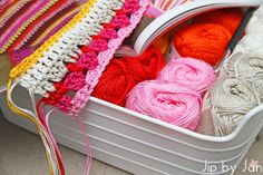 Colorful crochet Jip by Jan Blanket